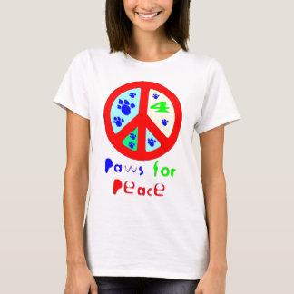 Patas para la paz (roja) playera