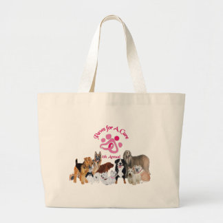 Patas para una exposición canina de la curación bolsa tela grande