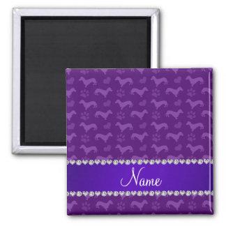 Patas púrpuras conocidas de encargo de los imán cuadrado