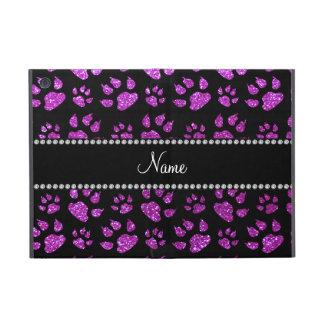 Patas púrpuras de neón conocidas personalizadas de iPad mini cobertura