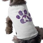 Patas púrpuras M de la tela escocesa Camisas De Perritos