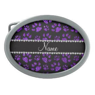 Patas púrpuras personalizadas del gato del brillo  hebillas cinturón