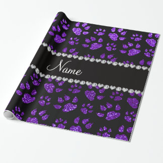 Patas púrpuras personalizadas del gato del brillo