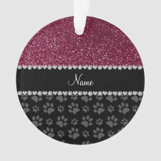 Patas púrpuras personalizadas del negro del brillo