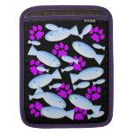 Patas púrpuras y pescados azules manga de iPad