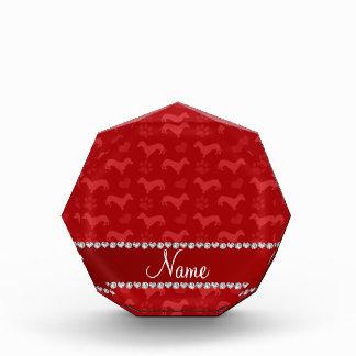 Patas rojas conocidas de encargo de los corazones
