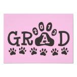 PATAS rosa y negro del GRADUADO 2013 Invitación 12,7 X 17,8 Cm