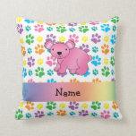 Patas rosadas conocidas personalizadas del arco almohadas