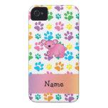 Patas rosadas conocidas personalizadas del arco Case-Mate iPhone 4 fundas