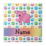 Patas rosadas conocidas personalizadas del arco ir tejas  ceramicas
