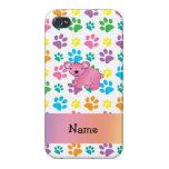 Patas rosadas conocidas personalizadas del arco ir iPhone 4/4S fundas
