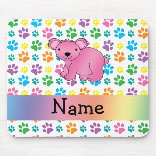 Patas rosadas conocidas personalizadas del arco ir alfombrilla de ratón