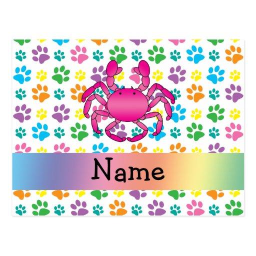 Patas rosadas conocidas personalizadas del arco tarjetas postales