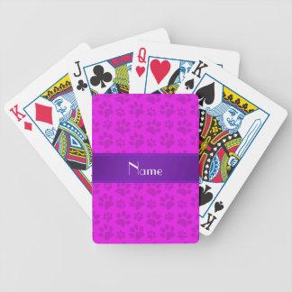 Patas rosadas de neón conocidas personalizadas del cartas de juego