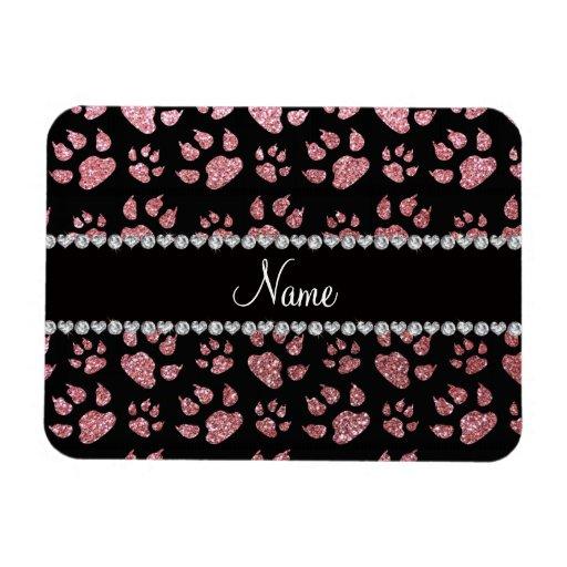 Patas rosas claras conocidas personalizadas del ga rectangle magnet