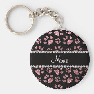 Patas rosas claras conocidas personalizadas del llavero redondo tipo pin