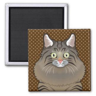 Patas siberianas del dibujo animado del gato imán