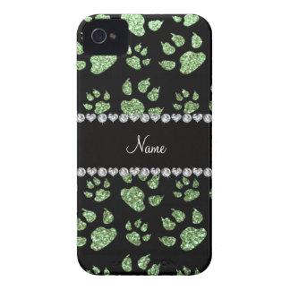 Patas verdes claras conocidas personalizadas del iPhone 4 carcasa