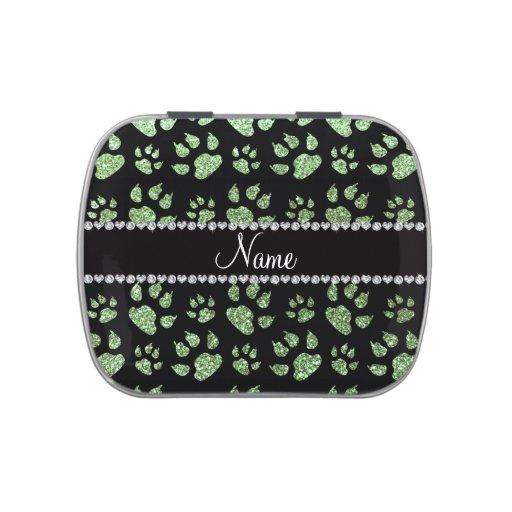 Patas verdes claras conocidas personalizadas del g frascos de dulces