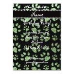 Patas verdes claras conocidas personalizadas del invitación 12,7 x 17,8 cm