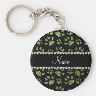 Patas verdes claras conocidas personalizadas del llavero redondo tipo pin
