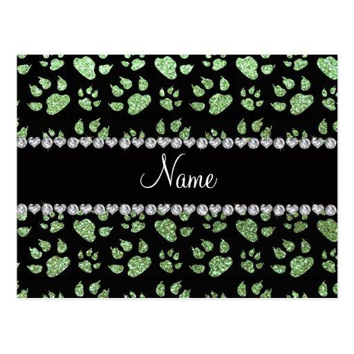 Patas verdes claras conocidas personalizadas del postal