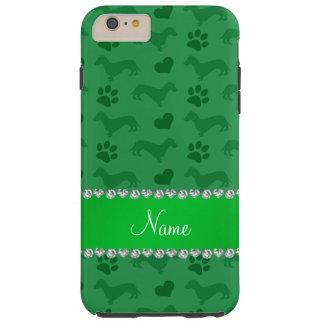 Patas verdes conocidas de encargo de los corazones funda de iPhone 6 plus tough