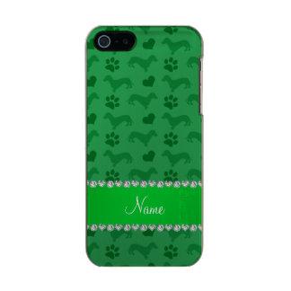 Patas verdes conocidas de encargo de los corazones carcasa de iphone 5 incipio feather shine