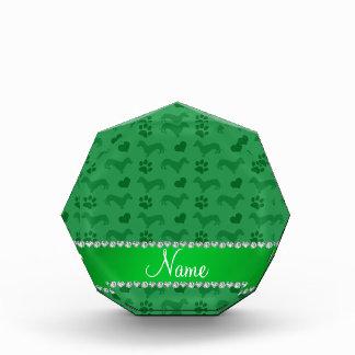 Patas verdes conocidas de encargo de los corazones
