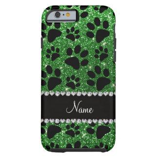 Patas verdes conocidas de encargo del perro negro funda de iPhone 6 tough