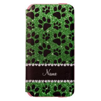 Patas verdes conocidas de encargo del perro negro funda cartera para iPhone 6 watson