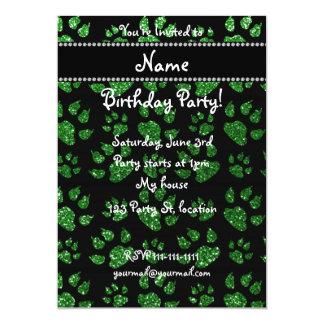 Patas verdes conocidas personalizadas del gato del invitacion personalizada