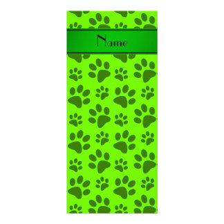 Patas verdes de neón conocidas personalizadas del lonas publicitarias