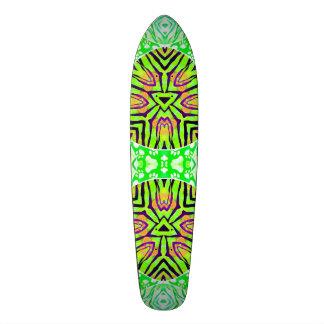 "Patas verdes fluorescentes de la cebra patineta 7 7/8"""