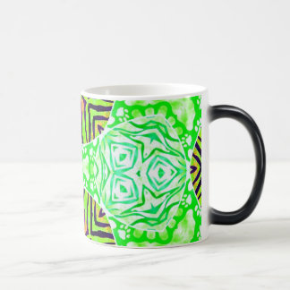 Patas verdes fluorescentes de la cebra taza mágica