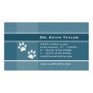 Patas veterinarias del azul del dril de algodón de tarjetas de visita