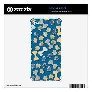 Patas y huesos azules skins para eliPhone 4