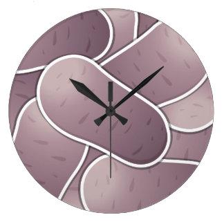 Patata azul enrrollada reloj redondo grande