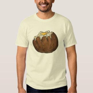 Patata cocida caliente con la camiseta de la remeras