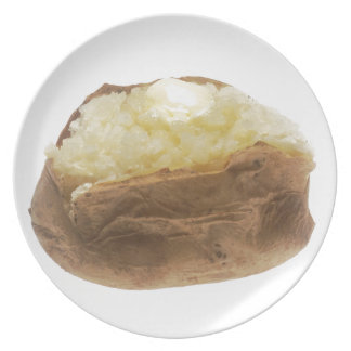 Patata cocida platos de comidas