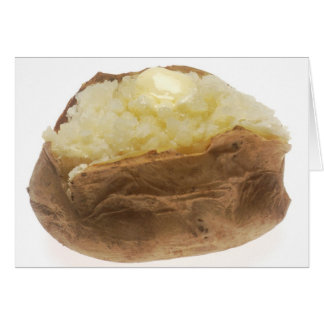 Patata cocida tarjeta de felicitación