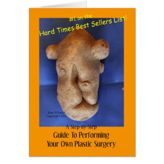 Patata de la cirugía plástica tarjeta