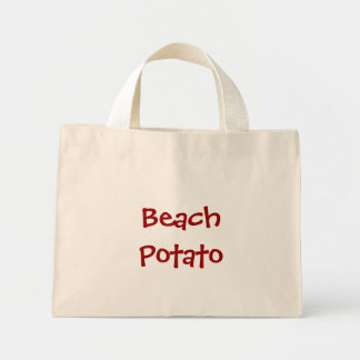 Patata de la playa bolsa de tela pequeña