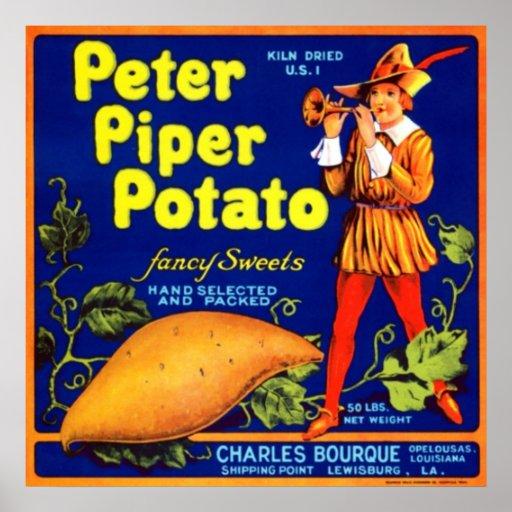 Patata del gaitero de Peter Impresiones