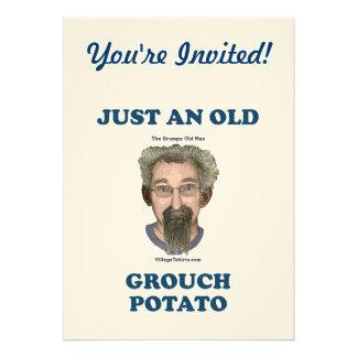 Patata del Grouch Invitación Personalizada