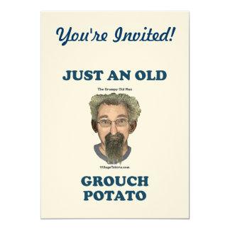 """Patata del Grouch Invitación 5"""" X 7"""""""