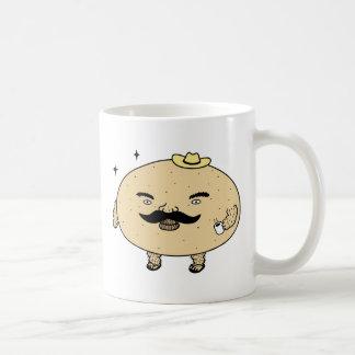 Patata del machista del chico duro taza de café
