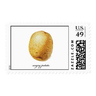 Patata enojada sello postal