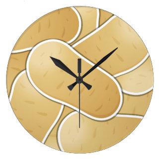 Patata enrrollada reloj redondo grande