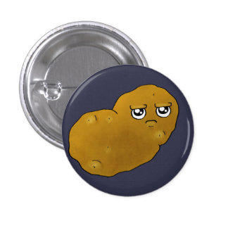 Patata feliz pin redondo de 1 pulgada